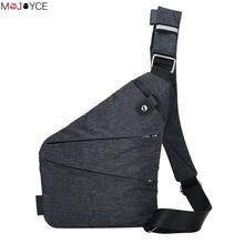 Новая модная мужская сумка слинг Повседневное нагрудная сумка из текстиля простые тонкие сумка для Для мужчин Anti Theft Crossbody Сумки sac основной homme