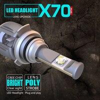 2 предмета XP70 9012 HXP CR EE C Здравствуйте ps автомобиля светодио дный лампы Здравствуйте Lo луч 50 Вт 8000LM 6000 К 24 В 100% CANBUS