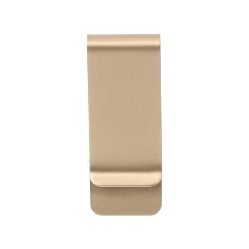 THINKTHENDO детали для сумок аксессуары тонкий карман латунь металлический зажим для мужчин кошелек кредитные карты наличные зажим для денег кошелек