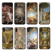 Palace of Versailles Phone Case for iPhone 6 6s 7 8 Plus X XR XS Max European Silicone Cover Luxury