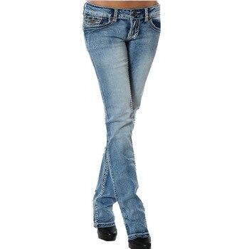 ceb7674e51e9ff Jeans. Cheap Jeans. Women's Slim Low Waist Butt Lift Stretch Skinny  Jeans Modern Boot Cut