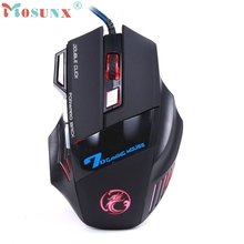 Beautiful Gift New 3200DPI LED Optical 7D USB Wired Gaming Game Mouse For PC Laptop Game Wholesale price May17