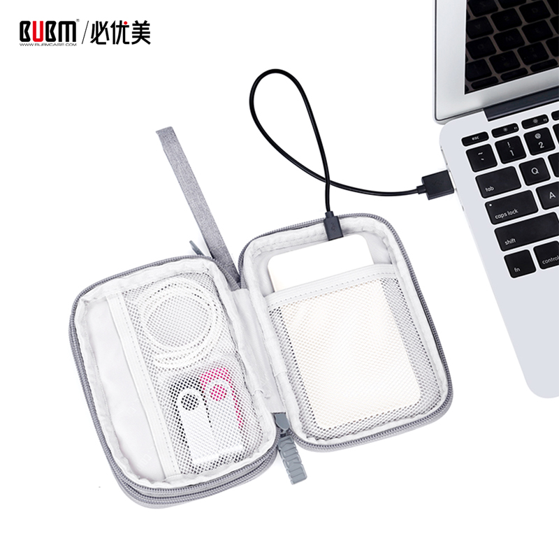 BUBM Portable External Hard Drive Case Bag For 2.5 Inch Hard Drive Storage Organizer Carrying Case