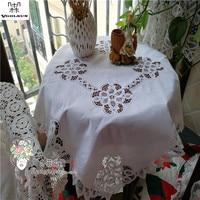 Vgolsun High Quality&Elegant Europe Style 87CM*87CM Round 100%Cotton Handmade Battenburg Lace Table Cloth