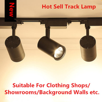 3pc Clothing Store LED COB Track Lamp Spotlight Background Wall Exhibition Hall Atmosphere Lamp Slide Tube Lamp with Track strip