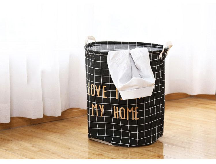 Domestic dirty clothes basket cartoon cloth art dirty clothes basket large waterproof folding laundry basket bathroom Oxford clo 2