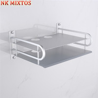 NK MIXTOS Double Layer Set Top Box Bracket Organizer TV Remote Control Game Console Stand Shelf