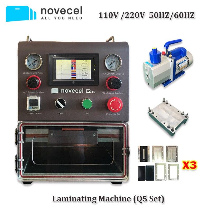 Novecel Q5 Machine À Plastifier Portable OCA Vide Plastifieuse avec 4L Pompe À Vide Pour Écran Plat, Écran Incurvé, Comprimés