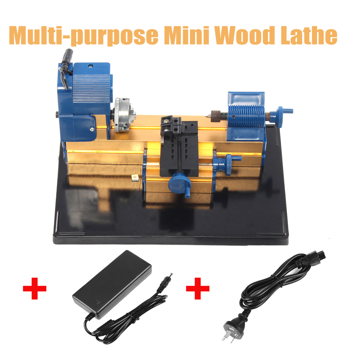 Mini Multifunction Wood Lathe Motorized Jig-saw Bead Grinder Driller 24W DC 12V 2A Woodworking Turning Cutting Bead Tool 24w all metal 24w metal wood turning lathe 20 000r min diy mini wood turning lathe