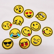 Emoji Emoticon Smiley Patches Cap Shoe Iron On Embroidered Appliques DIY Apparel Accessories Patch Clothing Fabric Badges BZ3