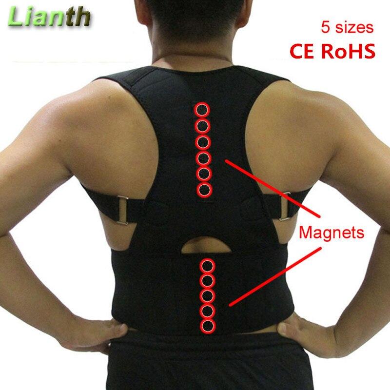 CE RoHS Magnetische Rückseite Schmerzen Gürtel Haltung Korrektor für Student Männer und Frauen Verstellbare Hosenträger Unterstützung Therapie Schulter T174K03