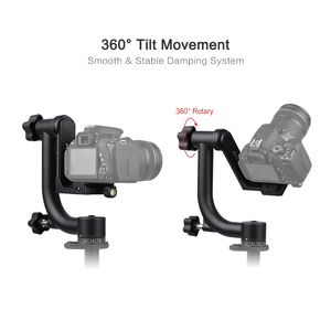 Image 4 - Andoer Heavy Duty Metal Panoramic Gimbal Tripod Head Use for Arca Swiss Standard Quick Release Plate Aluminum Alloy