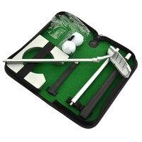 Portátil Practicee Definir Viagem Interior Golfs Bola Golf Putter Titular Colocando Formação Ajudas Ferramenta Com Carry Case Presentes B2Cs