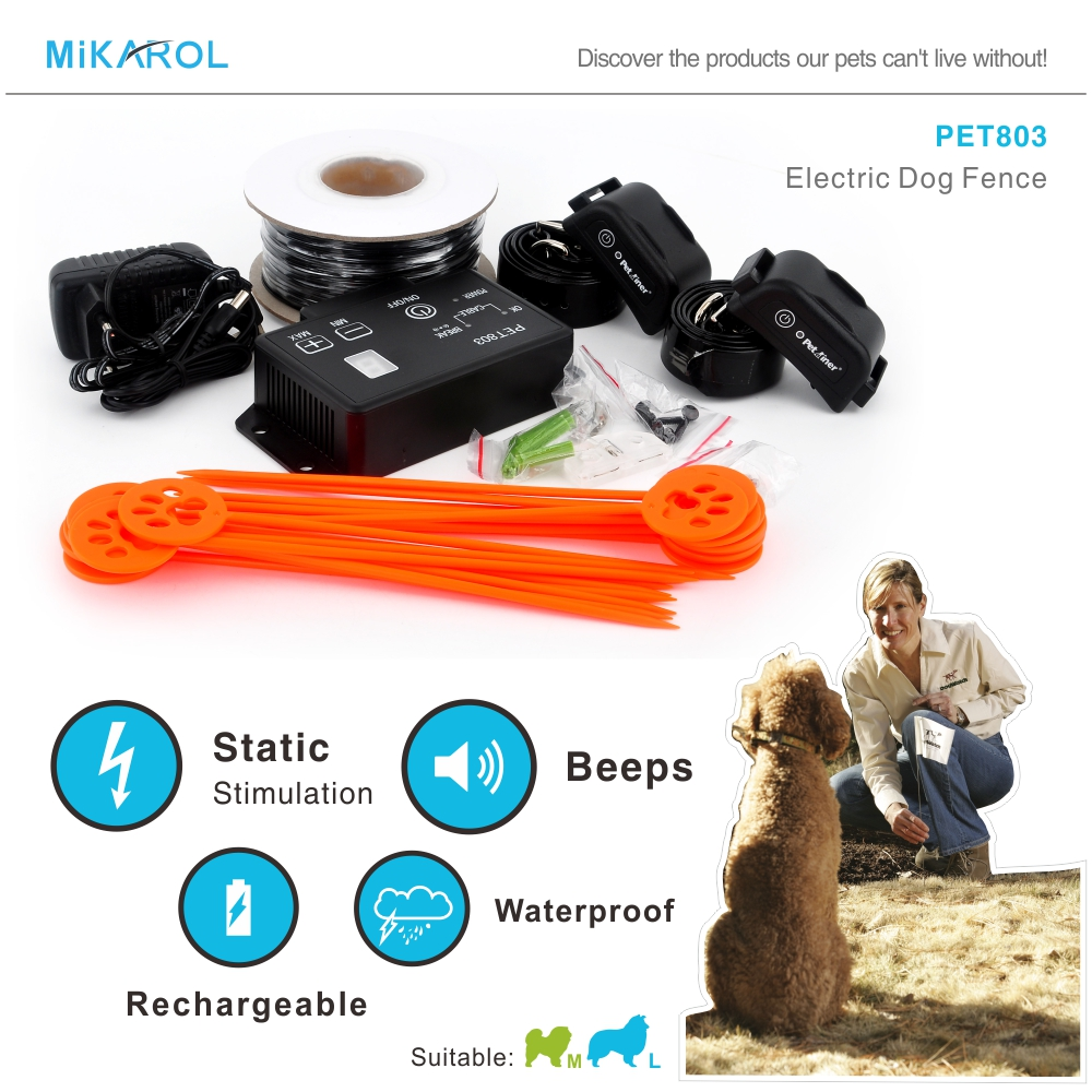dog fencing collar pet invisible fence system automatic beep shock electric fence 2 dog hot selling in the world