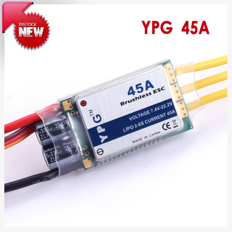 YPG 45A (2~6S) SBEC Brushless Speed Controller ESC High Quality Free Shipping ztw mantis series 45a esc electronic speed controller high quality