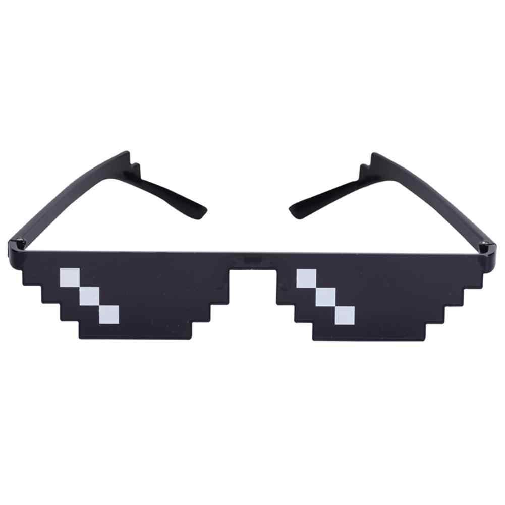 Baru Lucu Unisex Zonnebril Mannen Thug Life Bril Vrouwen Plus Ukuran Poligonal Pixel Bertemu Neus Pad Zonnebril Grappige Alat Peraga