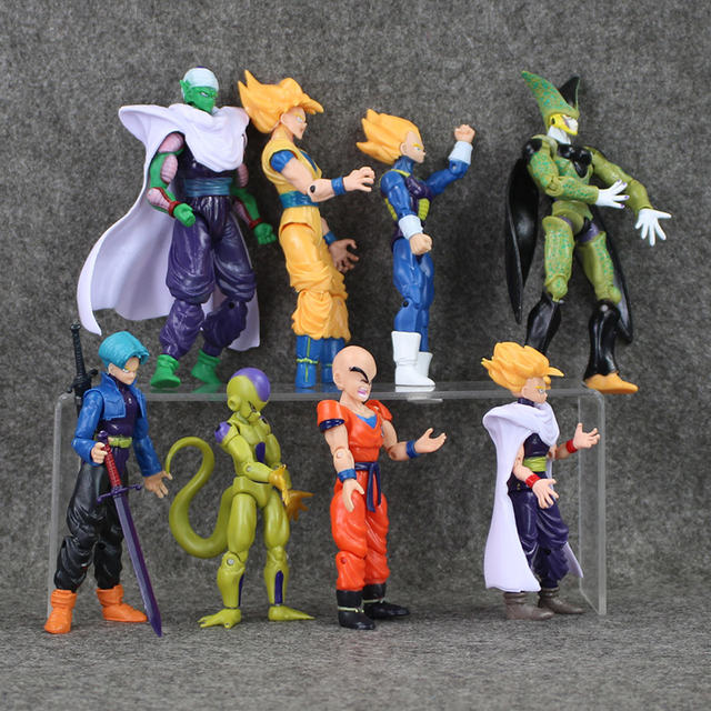 8Pcs Dragon Ball Z Joint Movable Action Figure