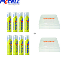 8Pcs PKCELL AAA NIMH Battery Rechargeable Batteries aaa1000mah 1.2v And 2 Battery Holder For aa or aaa Battery