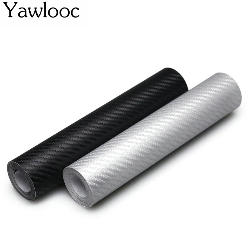 127cm*10cm Carbon Fiber Vinyl Film Car Stickers Waterproof Car Styling Wrap For Auto Vehicle Detailing accessories 2x universal waterproof rearview mirror film car stickers antifog auto dimming sticker rain proof vinyl wrap film car styling