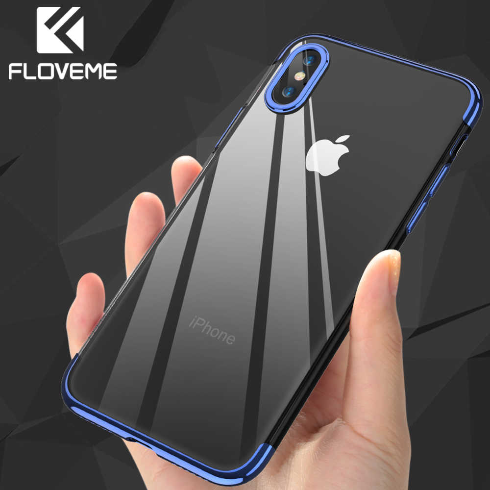 FLOVEME Soft TPU x 8 funda para iPhone 7 Plus funda transparente de silicona ultrafina para iPhone 6 6S 7 Plus accesorios para teléfono