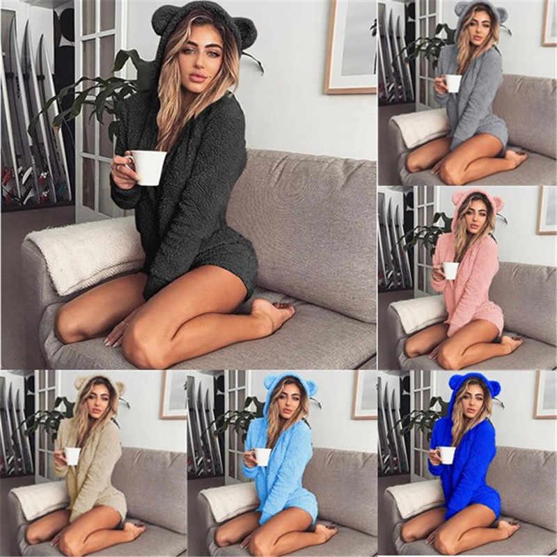 LittleSpace Onesie зимняя теплая Пижама Кигуруми для взрослых женщин с капюшоном заячьими ушками флис Onesie DDLG ABDL животных комбинезон пижамы