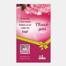 Custom 1000pcs thank you cards Full color printing business Invitation custom with any size your own design