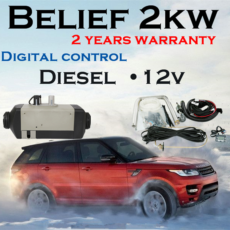 Belief air 2kw 12v diesel parking heater for car camper caravan ship truck bus etc similar to webasto heater