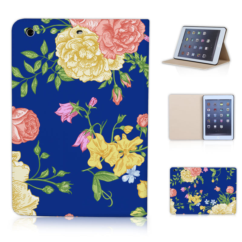 BTD Stand tablet case cover for apple ipad mini & mini 2 Vintage Flowers Butterfly Free Shipping P017-ip-mini