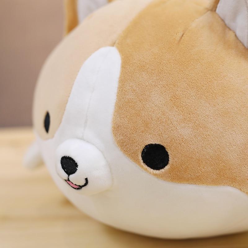 Quente 1pc 60cm bonito corgi cão brinquedo