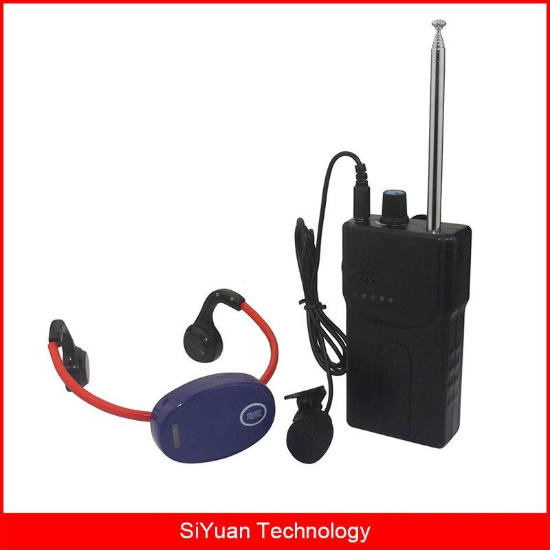 Nuoto Cuffie Conduzione Ossea Dispositivo Insegnamento Wireless Sistema di Trasmissione 1 Walkie Talkie + 1 Ricevitore + Mic