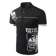 New Mens Short Sleeved British model trend males's brief sleeved polo POLO printing