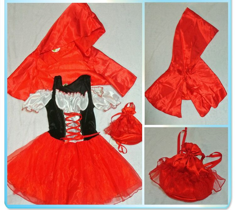 comprar nios disfraces de halloween princesa dress nias cosplay caperucita roja dress con capa de dress cosplay fiable proveedores en