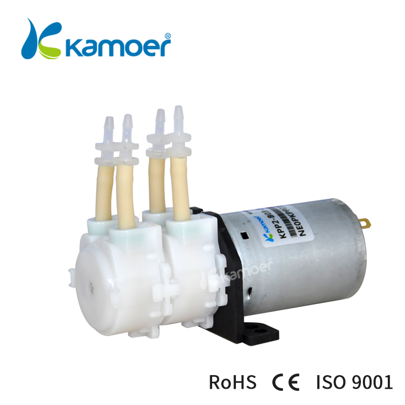 Mini water pump double head /Micro peristaltic pump 12V /small electric dosing pump(Low flow and pressure) (L)Kamoer KPP2 kamoer small peristaltic pump with low flow rate