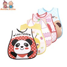 5pcs/lot Baby Bibs EVA Plastic Waterproof Lunch Feeding Bibs Baby Cartoon Feeding Cloth Children Apron Baby Accessories Stuff baby bibs eva waterproof lunch feeding bibs newborn baby cute cartoon feeding cloth bib children apron kids feeding accessories