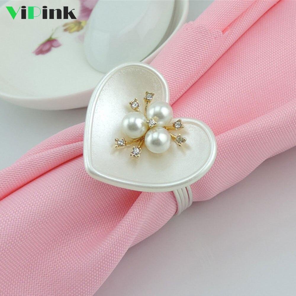 free shipping artificial flower napkin ring , silk flower napkin ...