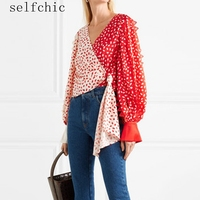 Women Blouses Runway 2019 Ladies Vintage Long Sleeve Printed Tops