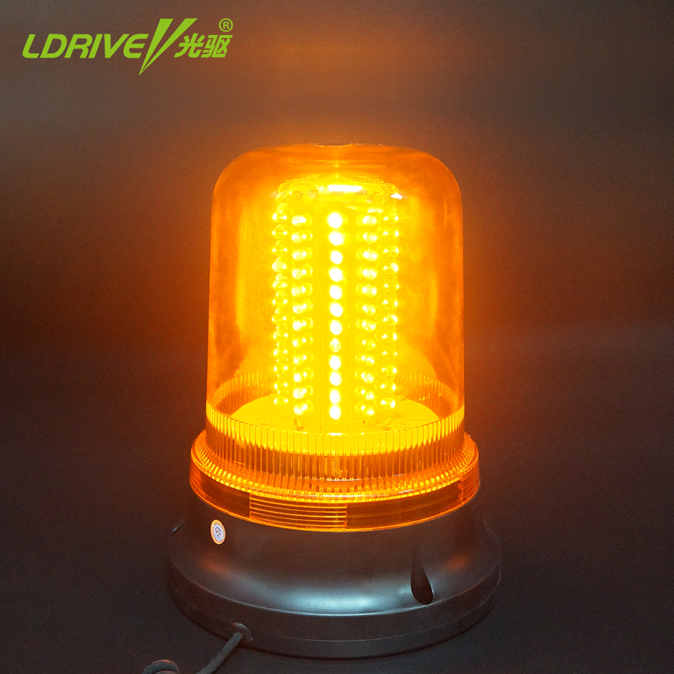 1PCS 120 LEDs 12V 24V Car Truck Magnetic LED Strobe Rotating Flashing Beacon Warning Light Emergency