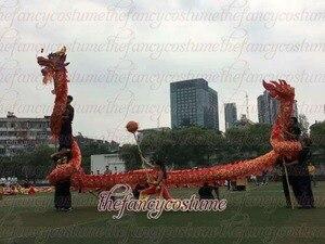Image 4 - Tejido de seda estampado, 10m de longitud, 5, 8 estudiantes, danza del dragón chino, utilería ORIGINAL para escenario, desfile, ropa de fiesta Folk