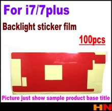 100pcs red backlight Sticker Film for iPhone 7 7P plus Backlight paper scratch LCD Screen Protector only the film