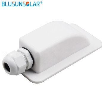 10 piece/lot Waterproof UV-resistant ABS single hole solar cable entry gland for caravan/Roof/motor home/Boat