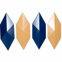 Новый 4 отверстия Алмазная конструкция кирпичная стена силиконовая форма бетонная плитка плесень DIY кирпичный Камень Плесень