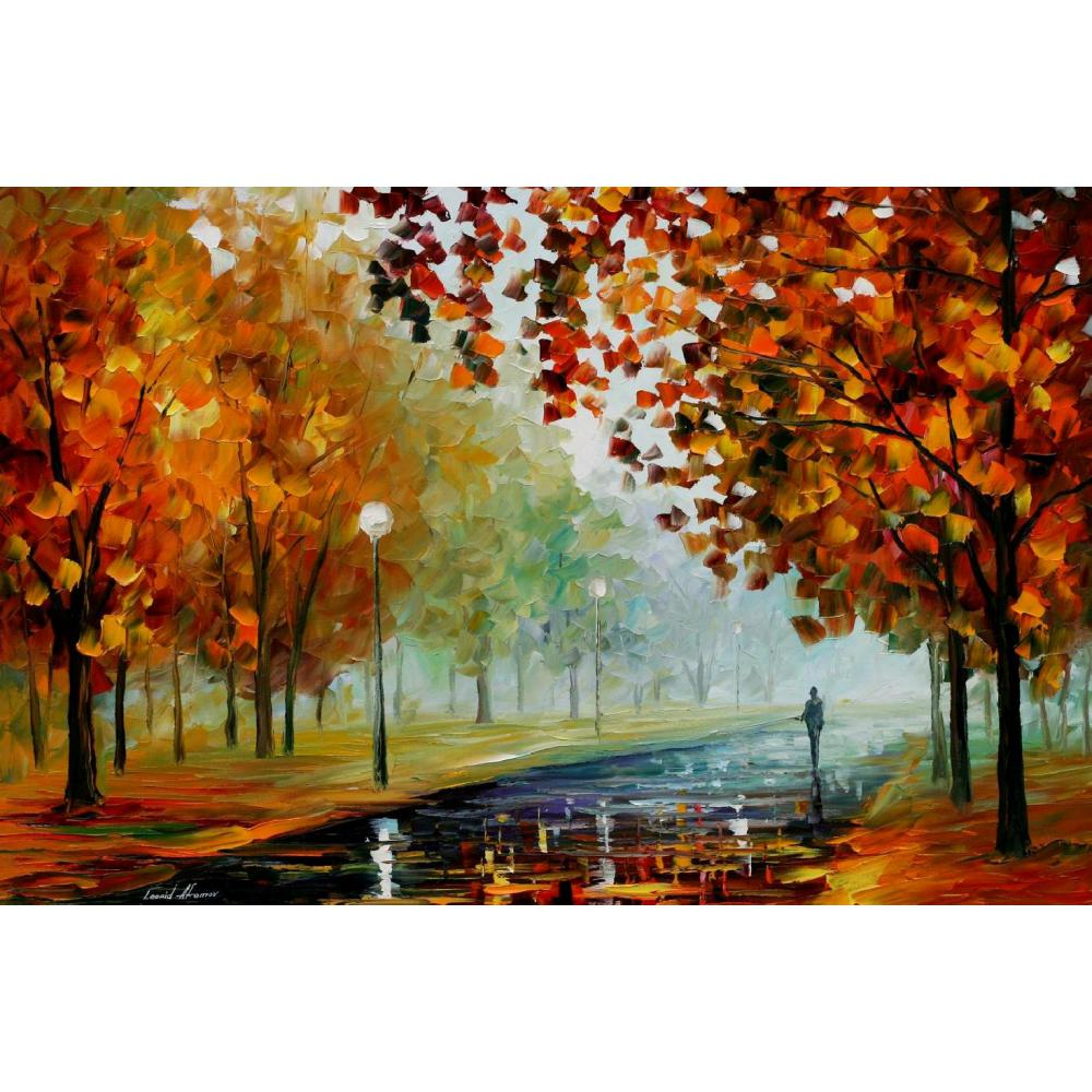 Modern art landscape foggy autumn palette knife oil painting High quality Hand painted home decorModern art landscape foggy autumn palette knife oil painting High quality Hand painted home decor