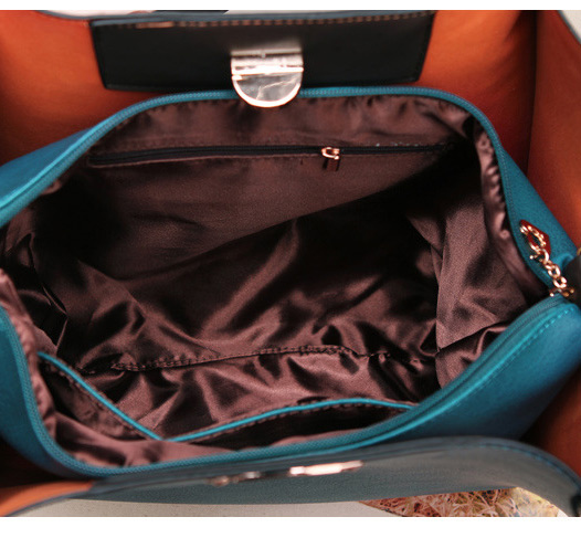 548c4c0031d6 2015 Vintage Women Leather Shoulder Bags Solid Black Blue PU Big Capacity  Individual Zipper Pocket Tote Composite Bag Hot Trend-in Shoulder Bags from  ...