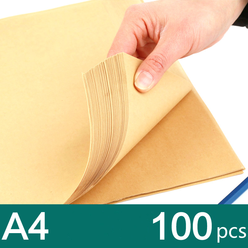 Hot selling 100pcs/lot  80g A4 kraft paper high quality copy paper kraft wrapping paper handmade paper