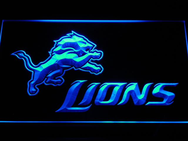 b444 2009 detroit lions logo led neon sign with onoff switch 20 colors