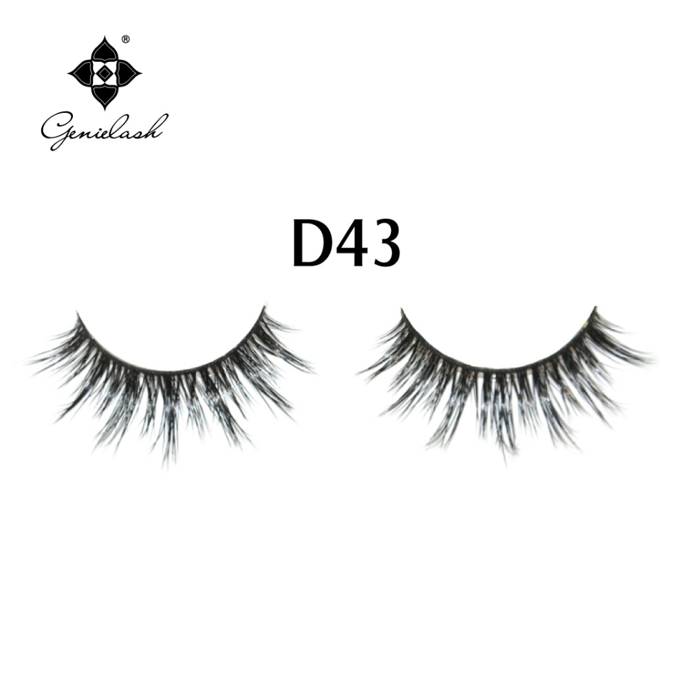 D43 Real Mink Fur False Eyelashes Free Shipping in Hollyren Beauty
