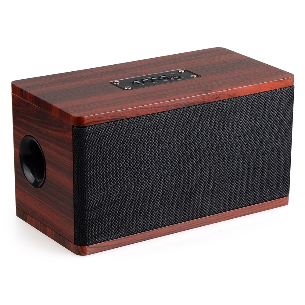 New Hifi Speaker Wooden Wireless Bluetooth Speaker Portable Computer Speakers 3D Loudspeakers For TV Home Theatre Sound Bar AUX  цена и фото