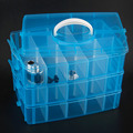 High Quality 30 Grids 5 Colors Plastic Storage Box For Toys Jewelry Display Makeup Case Holder Craft