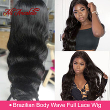 Full Lace Human Hair Wigs Brazilian Hair Weave Bundles Body Wave Human Hair Lace Wigs With Natural-Hairline 150% Full Lace Wig(China)