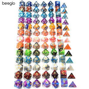 Polyhedral DnD Mixed Color Dice 7pcs/Set for RPG Dungeons and Dragons Board Games D4,D6,D8,D10,D%,D12,D20(China)
